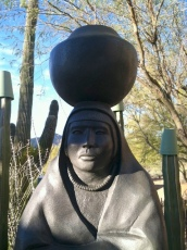 "This is the bronze ""Zuni Girl,"" by Nez Perce/ Assiniboine/Chippewa artist Doug Hyde."