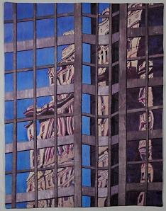 """Montreal,"" a textile art piece by Mita Giacomini."