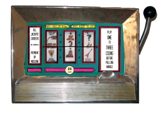 """Lucky Livelyhood"" slot machine by Sarah Hurwitz"