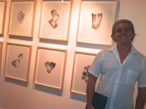 "William LeGoullon and his work ""Desert Barnacles"" at Modified Arts."