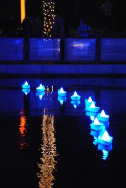 "Who didn't ooh and ahh over the Aether and Hemera installation ""Voyage"" on the Arizona Canal in November? Photo by Deborah Ross."