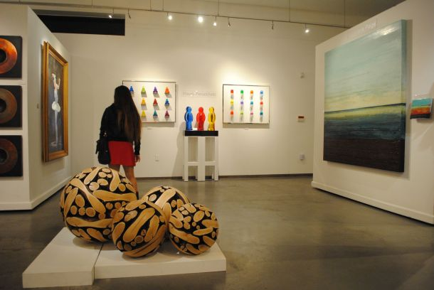 A pleasing variety of high-end art at Calvin Charles Gallery on Marshall Way.