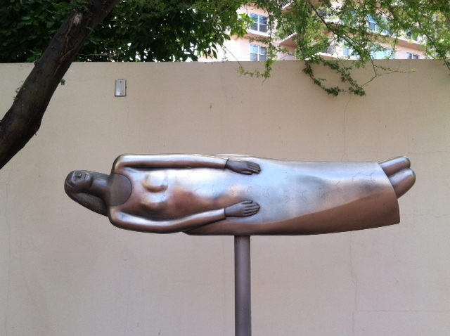 """""""Woman in Love"""" (1983) by Bob Haozous forms part of the Heard's current Houser/Haozous Family tribute."""