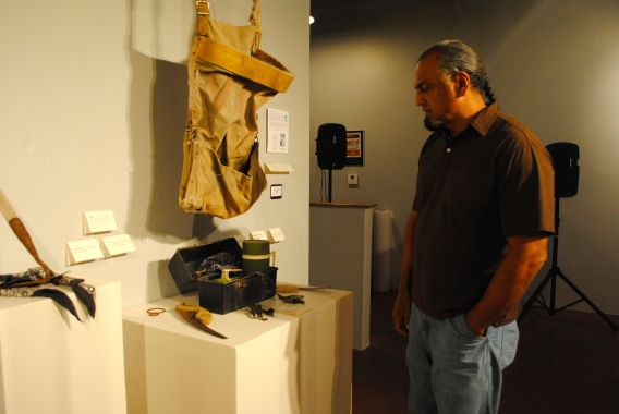 Marco Albarran recounts some of the history behind his father's tools and other artifacts from bracero days.