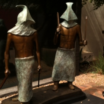 "The bronze ""Apache Clowns II"" (2005) is by Phillip Haozous, whose father and brother are also part of a special exhibition at the Heard."