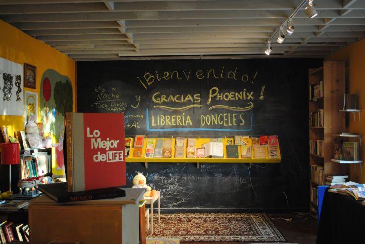 """The charming """"Librería Donceles"""" at Combine Studios."""