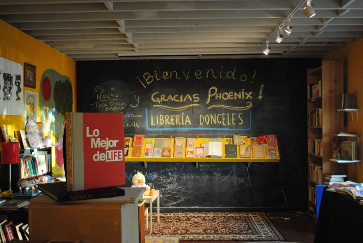 "The charming ""Librería Donceles"" at Combine Studios."