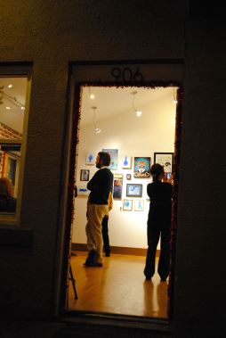 Treeo Gallery at 906 N. Sixth Street is one of Roosevelt Row's newest additions. First Friday featured a group show with several familiar local artists.