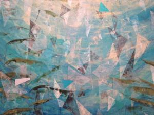 "Dianne Nowicki is showing ""Refraction"" as part of the group show celebrating 15 years of the eye lounge artists collective."