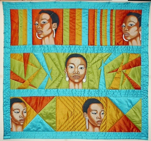 med-Jim S. Smoote, Georgie, 2011, Quilted textile, 46 x 49 x .5 inches.